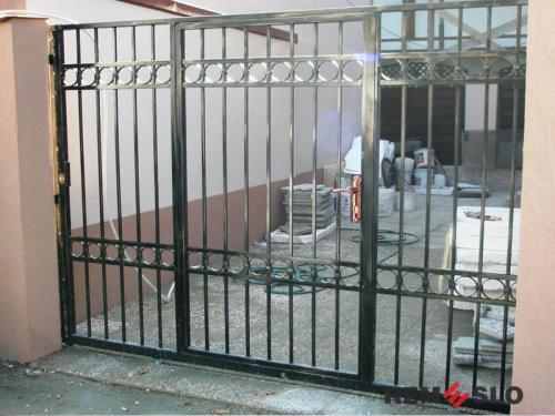 Сварные металлические ворота №12