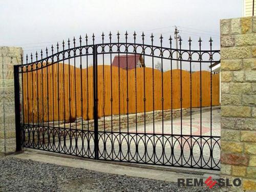 Сварные металлические ворота №20