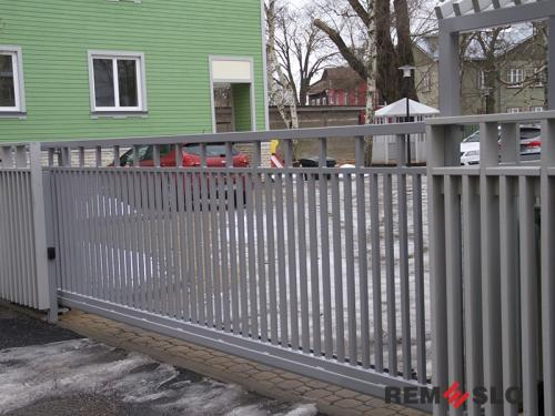 Сварные металлические ворота №23