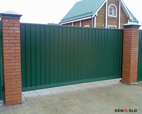 Сварные металлические ворота №24