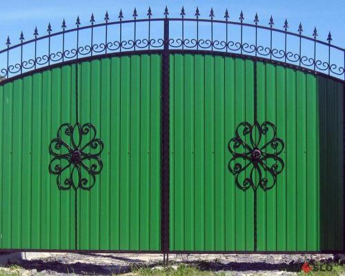 Сварные металлические ворота №26