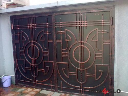 Сварные металлические ворота №27