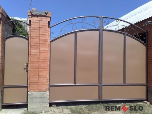 Сварные металлические ворота №28