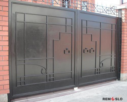 Сварные металлические ворота №29