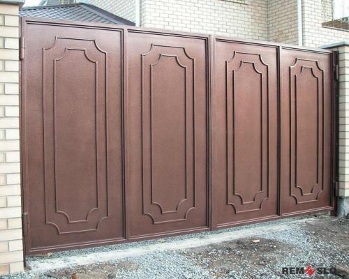 Сварные металлические ворота №30