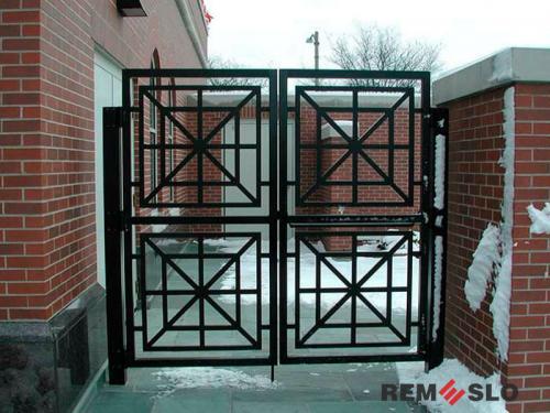 Сварные металлические ворота №5